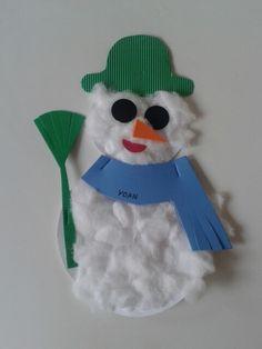 Bonhomme de neige fait en petite maternelle 2O13-14 par yoan