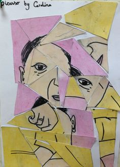 Deconstructed Picasso portrait | Picasso project for kids | elementary art projects | fine art for kids | k-8 art lessons
