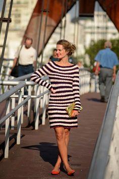 Vestido Colorido em Crochê -