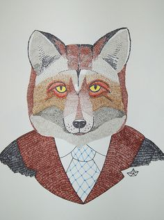 Fox With Clothing - I Love Drawing Things Like This x
