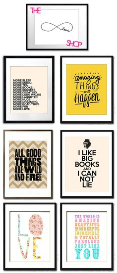 The Love Shop - quadros decorativos Art Wall Kids, Diy Wall Art, Wall Decor, Framed Quotes, Inspiration Wall, Wall Art Designs, Dream Decor, Messages, Decoration