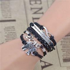 Infinity Love & Will Elephant Bracelet
