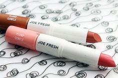 Joe Fresh Hydrate and Plump lip duo Nude and Kiss_Joe Fresh Spring 2014 makeup