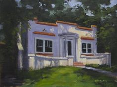 """""""Oakmont Lane"""" original fine art by Tom Pitman"""