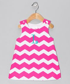 Pink Zigzag Initial Jumper - Infant & Toddler by Lollypop Kids Clothing #zulily #zulilyfinds