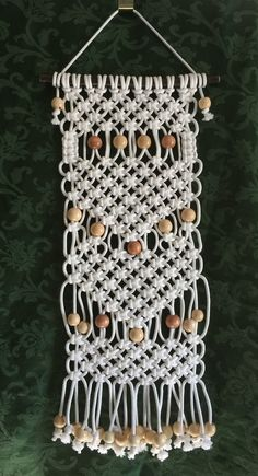 MACRAME WALL HANGING 35, white, synthetic