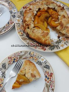 Chillies and Lime: Peach And Almond Galette