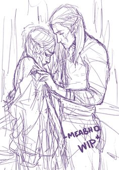 """The Jacket™ WIP WOP Yo @highfaelucien this is what I was talking about… still not sure I'll finish it though! I'm also going to take this time to say that I will be tagging my drawings with """"acowar spoilers"""" until June, then it's on you guys! Also..."""