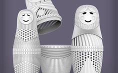 3D Printed Art Matryoshka Dolls by Louis Filosa