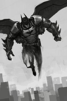 Batman by Daniel Kho Dc Comics Heroes, Dc Comics Characters, Batman Redesign, Night Shadow, Batman Wonder Woman, Batman Artwork, Batman Tattoo, Nerd Art, Star Wars Film