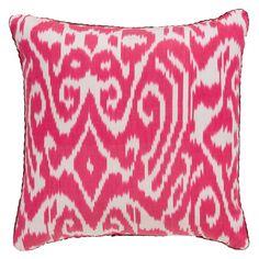 Hot Pink Luce Ikat Pillow
