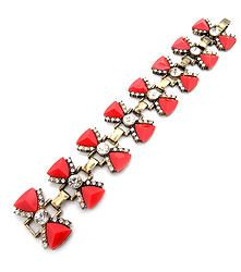 Ruby Sparks - Gorgeous bracelet with geometric gem detail and rhinestone accents