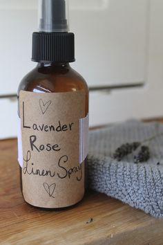 DIY Lavender Rose Linen Spray // THE DABBLIST 2oz cheap vodka, 4oz water, 10-15 drops essential oil