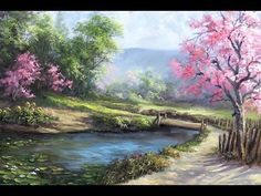 Spring Day | Painting art Demo - YouTube