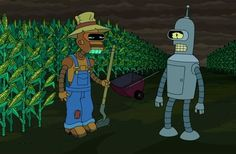 The use of robots in farming has been hailed as the future of agriculture, sustainability, and the food industry. ('Futurama')