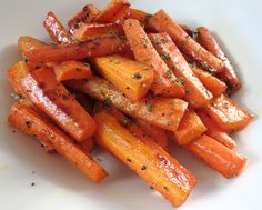 Honey Glazed Roasted Carrots - Super easy to make and oh so good!!
