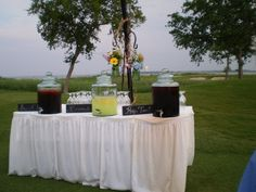 Lemonade station to cool guests before the ceremony. #BMHWedding  Johnson's Gardens - Shabby Chic Weddings Photo Gallery