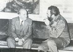 Com o Fidel Castro.  1978