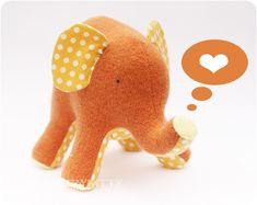 Countrykitty: Sweet elephant - orange and yellow