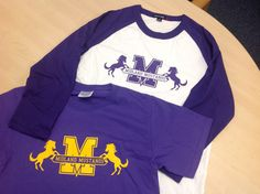 Go Mustangs! Loving the baseball tee.