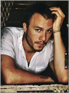 The beautiful Heath Ledger.
