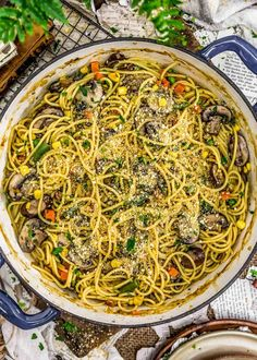 We are taking pasta to the max with this insanely flavorful, cozy, and delicious Vegan Veggie Tetrazzini with wholesome ingredients and comforting goodness. #vegan #oilfree #glutenfree #plantbased | monkeyandmekitchenadventures.com Lunch Recipes, Whole Food Recipes, Vegan Recipes, Dinner Recipes, Pasta Recipes, Dinner Ideas, Frozen Vegetables, Mixed Vegetables, Veggies