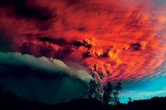 vulcão Puyehue em erupção