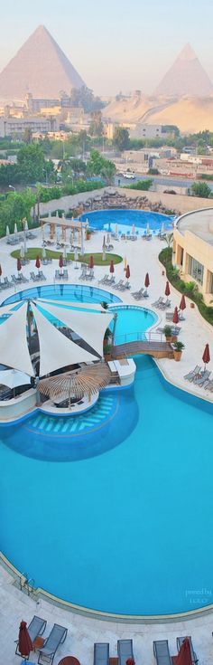 "My hotel!  Le Méridien Pyramids Hotel & Spa, Giza, Cairo. "" Egypt is fast making its way up the list of favoured holiday destination spots. Far away from the sweaty crowds of Cairo, you'll find resorts that cater to any budget, offering private sandy beaches and beauteous seas, along with excellent swimming pools and all-inclusive deals. """