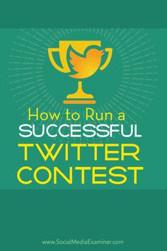 Do you want to boost engagement on Twitter?  Twitter contests are a creative, fun way to attract more followers, engagement and shares on the platform.  In this post you'll discover how to run a Twitter contest for your business. Via @smexaminer.