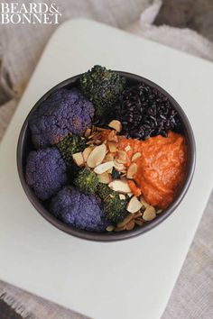 Black Rice, Romesco + Roasted Veggie Bowls | Beard + Bonnet | #glutenfree #vegan