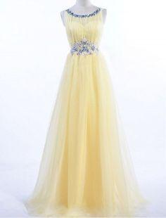 Charming Prom Dress,Yellow Prom Dress,Long Evening Dress,Women Dress