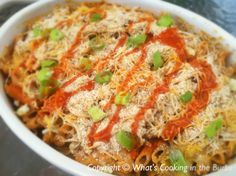 Buffalo Chicken Bake. One pinner says: This site has great weight watcher recipes
