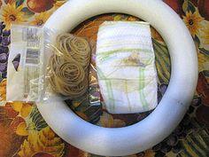 Tutorial for a Diaper wreath