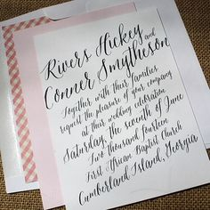 How to calligraphy How To Do Calligraphy, Wedding Calligraphy, Modern Calligraphy, Calligraphy Lessons, Invitation Layout, Invitation Envelopes, Invitation Suite, Wedding Invitation Samples, Paper Supplies