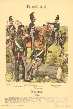 Knotel 871: Line Dragoons regiments, 1813: Moscow, Kurland, Boriss Borisoglievsk, Kinburn & Kargopol.
