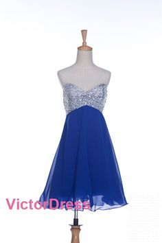 Strapless Party Short Beading Homecoming Prom Sweetheart Short Cocktail Dress/Cocktail Dresses