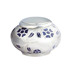 Amazon.com: Mushroom Shaped Mini Keepsake Funeral Urn - Brass Cremation Urns for Human Ashes Adult or Pet - Fits a Small Amount of Cremated Remains - Display Burial Urn at Home or Office (Blue Flowers Baby Urn: Home & Kitchen