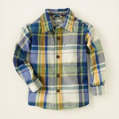 baby boy - outfits - skater style - plaid shirt | Children's Clothing | Kids Clothes | The Children's Place