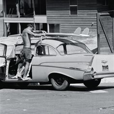 the boards may be worth more than the car today... :-) ('60s photo by Ron Church via Surf's Up - NOWNESS)