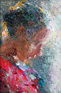 """Knife Painting 1"" Oil on panel 6""x9"" Available through Robert Lange Studio."