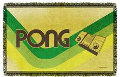Atari Pong Lines Woven Tapestry Throw Blanket