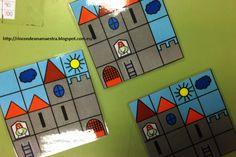 Rincón de una maestra: Puzle de castillo Castle Project, Vacation Bible School, Medieval Art, Diy Toys, Middle Ages, School Projects, Preschool Activities, Puzzles, Fairy Tales