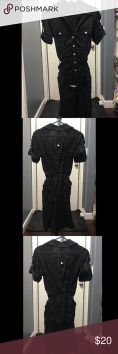 Black button up dress Black button up dress Good condition  Never been worn No tags XOXO Dresses