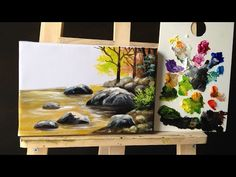 how to paint Stones and Rocks with acrylic lesson 2 - YouTube