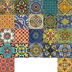 MEXICAN TALAVERA TILE DECAL   O R D E R . P A C K . I N C L U D E S QUANTITY : 22 designs x 2 = 44 tile decals SIZE : You can select the size from right side- size drop down button. In case you need a custom size , write to us, we will make it without any extra cost. COLOR: Mexican color palette INSTALLATION GUIDE    A B O U T Taking the inspiration from Mexican Talavera, we have created a wide range of tiles to mix and match for your kitchen corners or bathroom interior! The color palet...