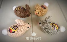 Easter Bunny Rabbit Creme Egg Covers X 4 hand knitted