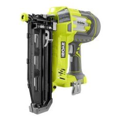 RYOBI introduces the ONE+ Lithium-Ion Cordless AirStrike Straight Finish Nailer (Tool-Only) with Sample Nails. The RYOBI ONE+ AirStrike Straight Finish Nailer drives finish nails ranging from in. Ryobi Tools, Ryobi Cordless Tools, Cordless Drill, Finish Nailer, Nail Gun, Wooden Lanterns, Electronic Recycling, Air Tools, Tools Tools