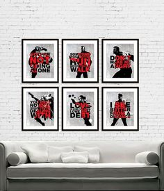 The Avengers Superheroes Iron Man, Hawkeye, Black Widow, Thor, Incredible Hulk and Captain America Superheroes Quote Poster Print Set of 6: