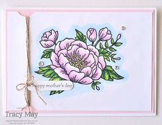 Mother's Day Cards using Birthday Blooms from Stampin' Up! UK Demonstrator Tracy May