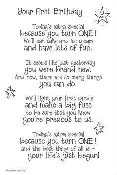 Birthday Poems on Pinterest